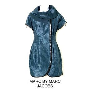Marc by Marc Jacobs Blue Short Sleeve Coat Dress